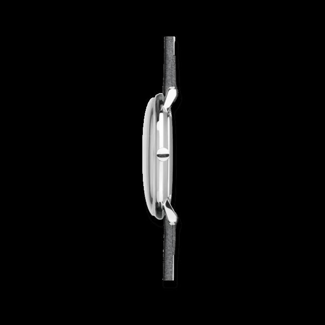Damenuhr Junghans Max Bill Damen mit anthrazitfarbenem Zifferblatt und Kalbsleder-Armband bei Brogle