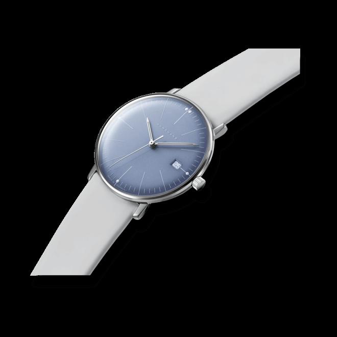Damenuhr Junghans Max Bill Damen mit blauem Zifferblatt und Kalbsleder-Armband