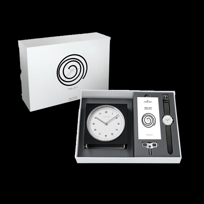 Herrenuhr Junghans Max Bill Edition Set mit weißem Zifferblatt und Kalbsleder-Armband bei Brogle