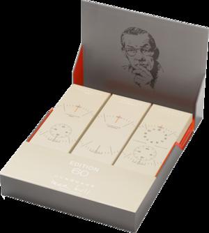 Herrenuhr Junghans Max Bill Edition Set 60 mit weißem Zifferblatt und Kalbsleder-Armband