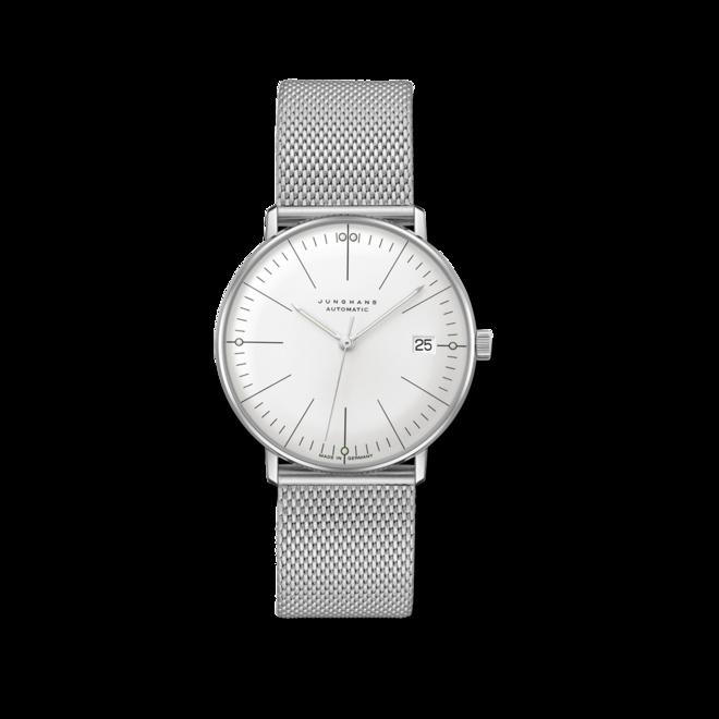 Armbanduhr Junghans Max Bill kleine Automatic mit silberfarbenem Zifferblatt und Edelstahlarmband bei Brogle