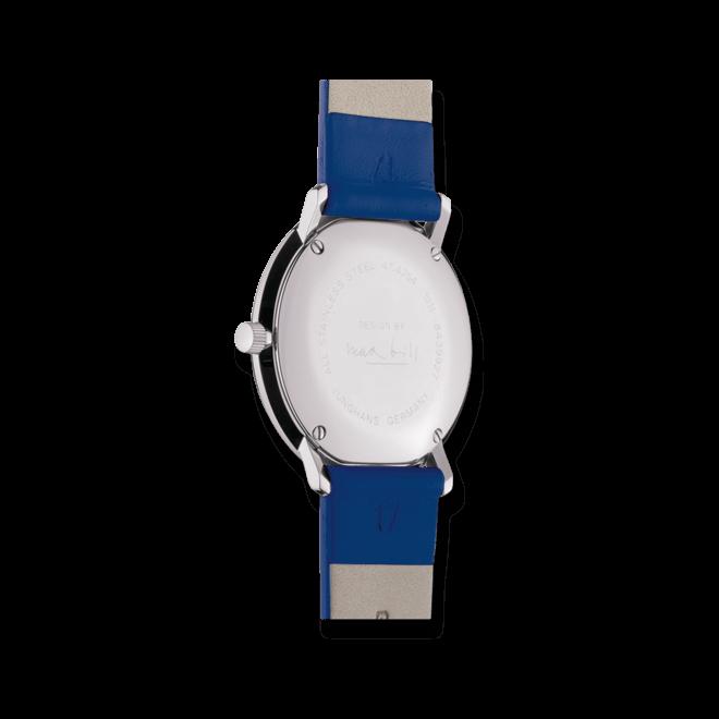 Damenuhr Junghans Max Bill Damen mit weißem Zifferblatt und Kalbsleder-Armband