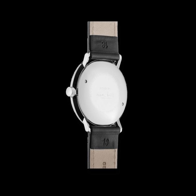 Herrenuhr Junghans Max Bill Handaufzug mit weißem Zifferblatt und Kalbsleder-Armband