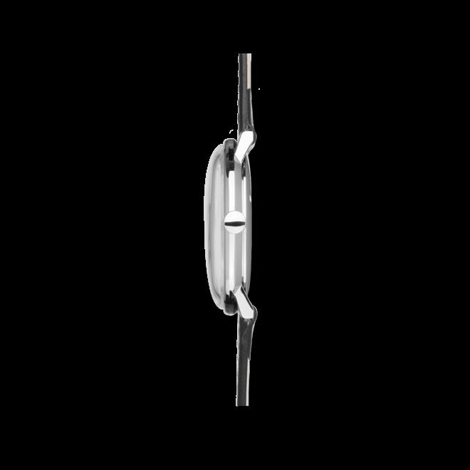 Herrenuhr Junghans Max Bill Handaufzug mit schwarzem Zifferblatt und Kalbsleder-Armband