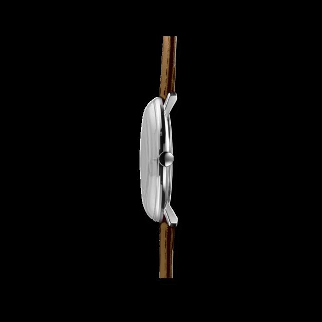 Herrenuhr Junghans Max Bill Quarz mit weißem Zifferblatt und Kalbsleder-Armband bei Brogle