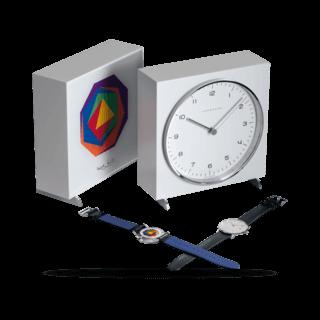 Junghans Armbanduhr Set Max Bill Edition 2017 Armbanduhr + Tischuhr 363/2715.00