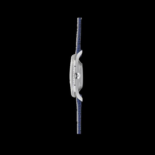 Damenuhr Junghans Meister Automatik 33,1mm mit Diamanten, weißem Zifferblatt und Eidechsenleder-Armband bei Brogle