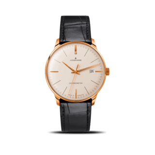 Junghans Herrenuhr Meister Chronometer Gold 027/9334.00