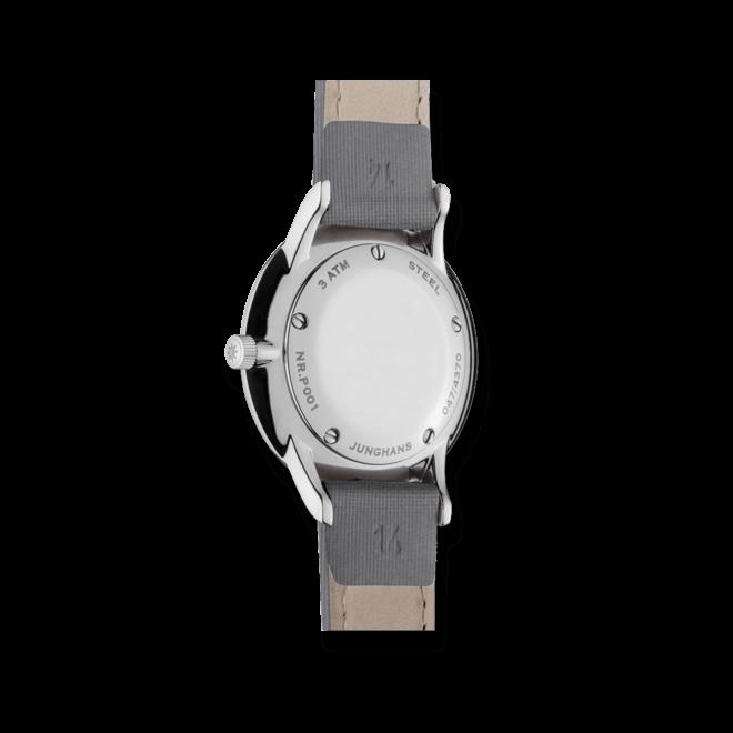 Damenuhr Junghans Meister Damen mit grauem Zifferblatt und Kalbsleder-Armband bei Brogle