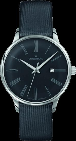 Damenuhr Junghans Meister Damen mit grauem Zifferblatt und Kalbsleder-Armband