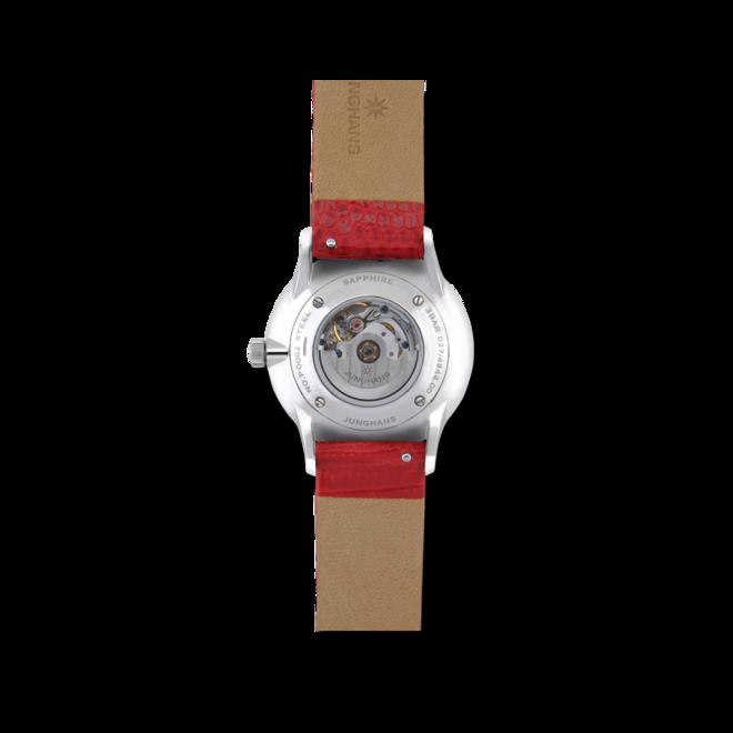 Damenuhr Junghans Meister Damen Automatic mit weißem Zifferblatt und Eidechsenleder-Armband bei Brogle