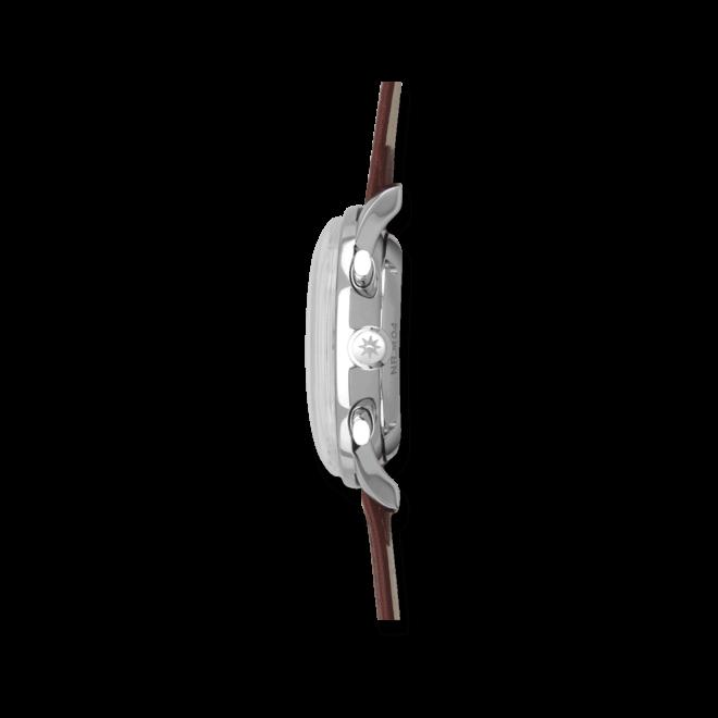 Herrenuhr Junghans Meister Driver Chronoscope mit sandfarbenem Zifferblatt und Kalbsleder-Armband
