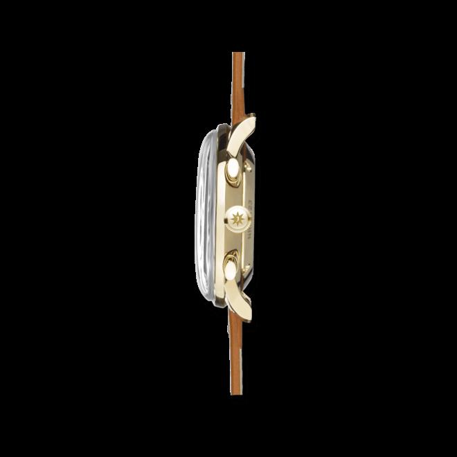Herrenuhr Junghans Meister Telemeter mit silberfarbenem Zifferblatt und Kalbsleder-Armband bei Brogle