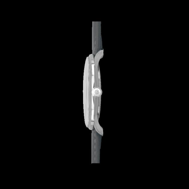 Herrenuhr Junghans Meister Driver Handaufzug mit schwarzem Zifferblatt und Kalbsleder-Armband