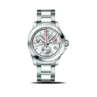 Longines Herrenuhr Conquest Jumping Chronograph L3.701.4.76.6