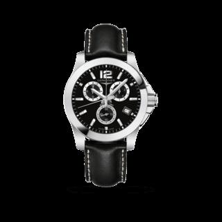 Longines Herrenuhr Conquest Quarz Chronograph 41mm L3.660.4.56.0