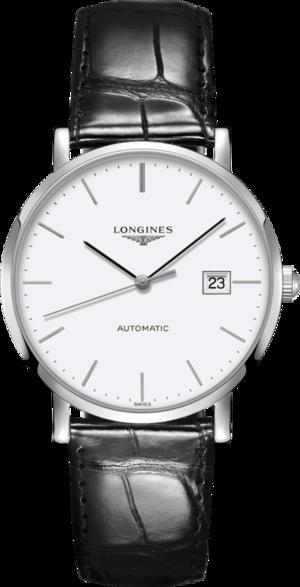 Armbanduhr Longines Elegant Automatik 39mm mit grauem Zifferblatt und Alligatorenleder-Armband