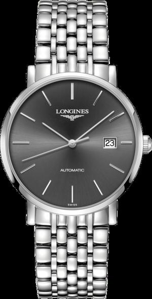 Armbanduhr Longines Elegant Automatik 39mm mit grauem Zifferblatt und Edelstahlarmband