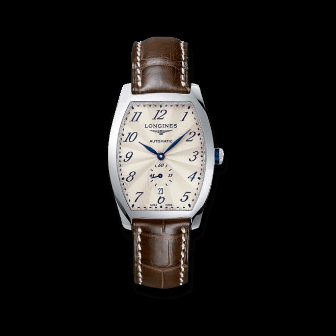 Armbanduhr Longines Evidenza Automatik L mit silberfarbenem Zifferblatt und Alligatorenleder-Armband bei Brogle