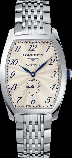 Armbanduhr Longines Evidenza Automatik L mit silberfarbenem Zifferblatt und Edelstahlarmband
