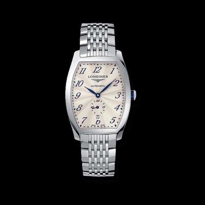Armbanduhr Longines Evidenza Automatik L mit silberfarbenem Zifferblatt und Edelstahlarmband bei Brogle