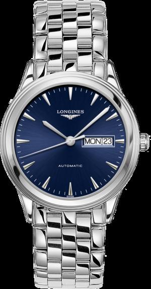Armbanduhr Longines Flagship Automatik 38,5mm mit blauem Zifferblatt und Edelstahlarmband