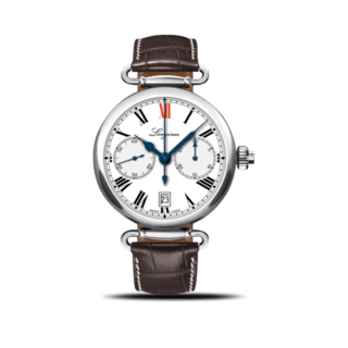 Longines Herrenuhr Column-Wheel Single Push-Piece Chronograph 40mm L2.776.4.21.3