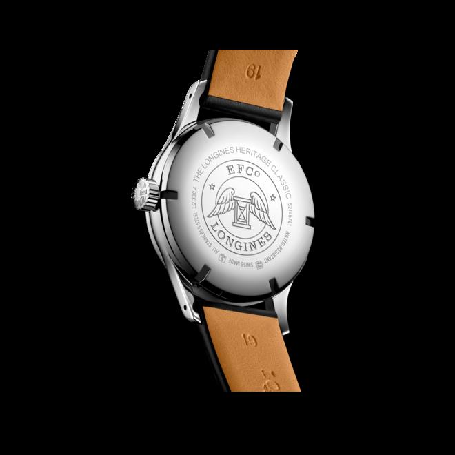 Armbanduhr Longines Heritage Classic Tuxedo mit zweifarbigem Zifferblatt und Kalbsleder-Armband bei Brogle