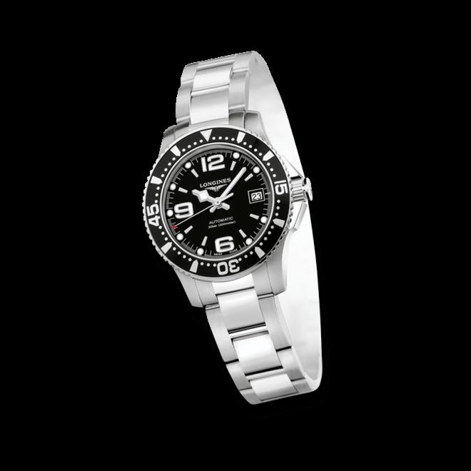 Armbanduhr Longines HydroConquest Automatik 29,5mm mit schwarzem Zifferblatt und Edelstahlarmband
