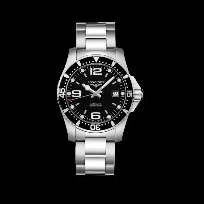 Armbanduhr Longines HydroConquest Automatik 39mm mit schwarzem Zifferblatt und Edelstahlarmband bei Brogle