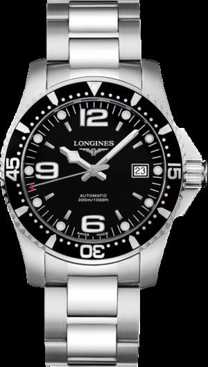 Armbanduhr Longines HydroConquest Automatik 39mm mit schwarzem Zifferblatt und Edelstahlarmband