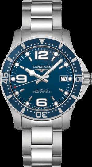 Armbanduhr Longines HydroConquest Automatik 39mm mit blauem Zifferblatt und Edelstahlarmband