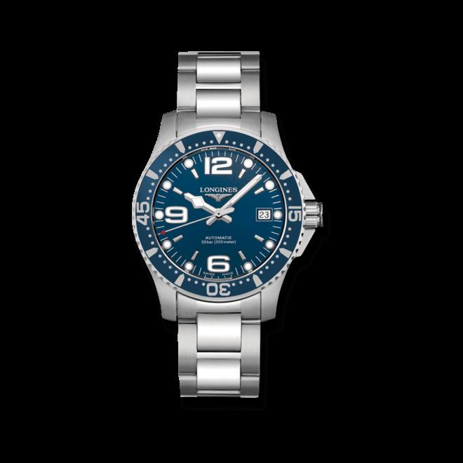 Armbanduhr Longines HydroConquest Automatik 39mm mit blauem Zifferblatt und Edelstahlarmband bei Brogle