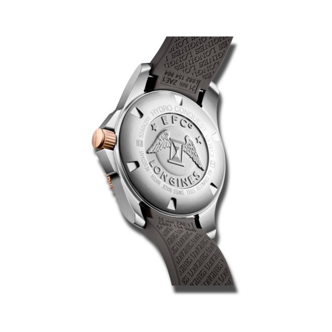 Herrenuhr Longines HydroConquest Automatik 41mm mit grauem Zifferblatt und Kautschukarmband bei Brogle