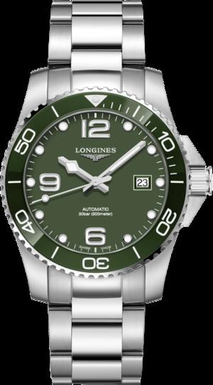 Herrenuhr Longines HydroConquest Automatik 41mm mit grünem Zifferblatt und Edelstahlarmband