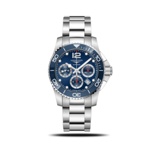 Longines Herrenuhr HydroConquest Automatik Chronograph 41mm L3.783.4.96.6