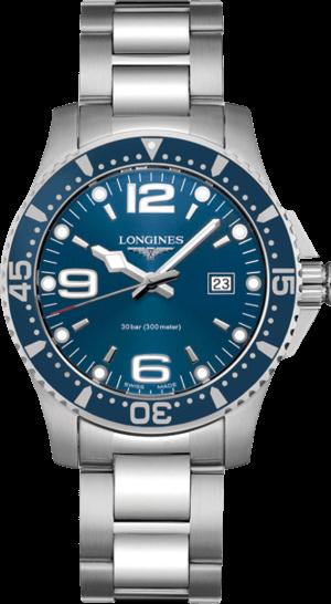 Armbanduhr Longines HydroConquest Quarz 39mm mit blauem Zifferblatt und Edelstahlarmband