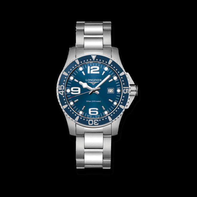 Armbanduhr Longines HydroConquest Quarz 39mm mit blauem Zifferblatt und Edelstahlarmband bei Brogle
