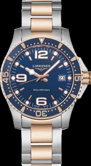 Herrenuhr Longines HydroConquest Quarz 41mm mit blauem Zifferblatt und Edelstahlarmband