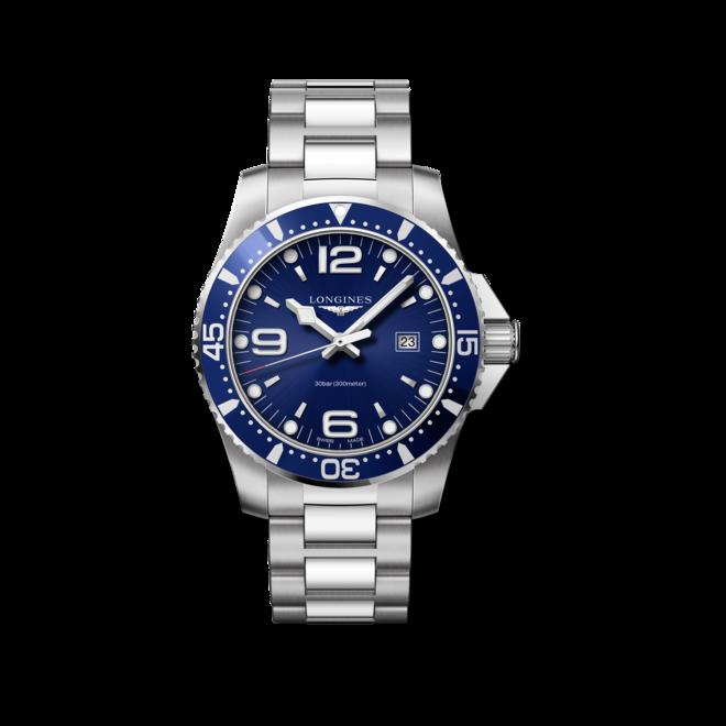 Longines HydroConquest 44mm schwarz Quarz Herren Uhr Edelstahl Armband L3.840.4.56.6