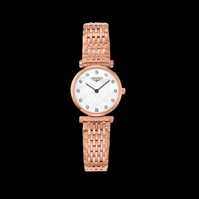 Damenuhr Longines La Grande Classique Quarz 24mm mit Diamanten, weißem Zifferblatt und Edelstahlarmband bei Brogle