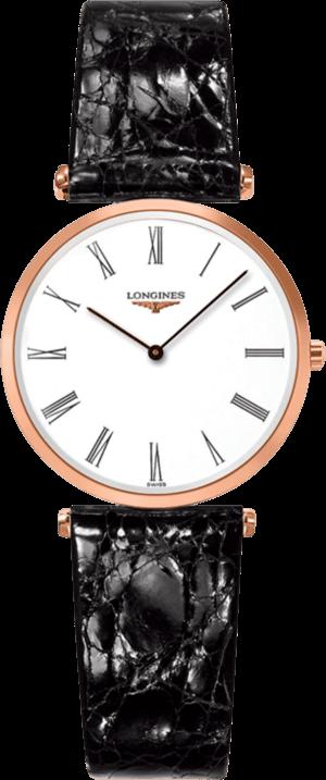 Damenuhr Longines La Grande Classique Quarz 29mm mit weißem Zifferblatt und Kalbsleder-Armband