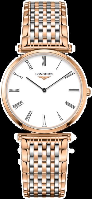 Damenuhr Longines La Grande Classique de Longines Quarz 33mm mit weißem Zifferblatt und Edelstahlarmband