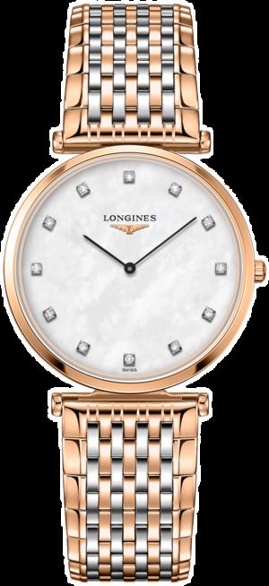 Damenuhr Longines La Grande Classique de Longines Quarz 33mm mit perlmuttfarbenem Zifferblatt und Edelstahlarmband