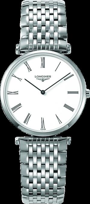 Armbanduhr Longines La Grande Classique de Longines Quarz 33mm mit weißem Zifferblatt und Edelstahlarmband