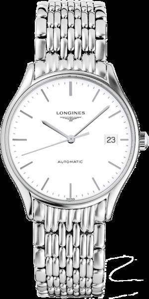 Damenuhr Longines Lyre Automatik 35mm mit weißem Zifferblatt und Edelstahlarmband