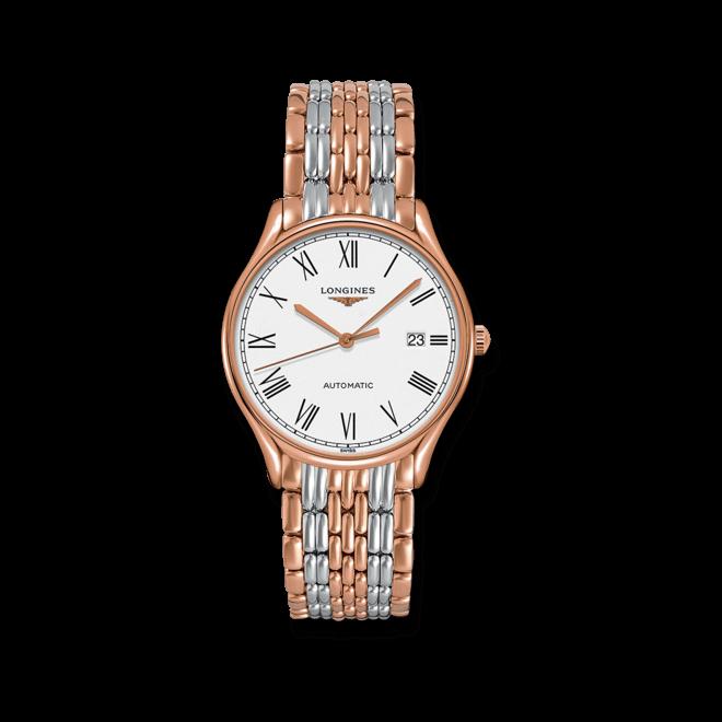 Armbanduhr Longines Lyre Automatik 38,5mm mit weißem Zifferblatt und Edelstahlarmband bei Brogle