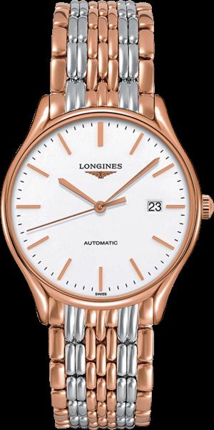 Armbanduhr Longines Lyre Automatik 38,5mm mit weißem Zifferblatt und Edelstahlarmband