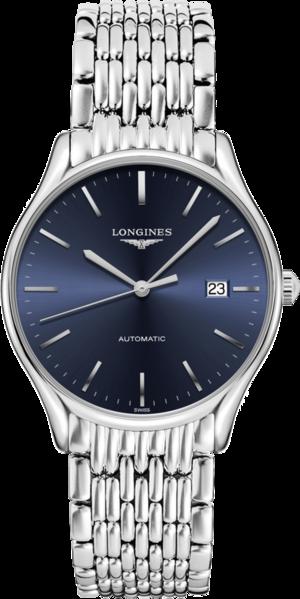 Armbanduhr Longines Lyre Automatik 38,5mm mit blauem Zifferblatt und Edelstahlarmband