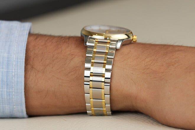 Herrenuhr Longines Master Automatik 36mm mit Diamanten, silberfarbenem Zifferblatt und Edelstahlarmband
